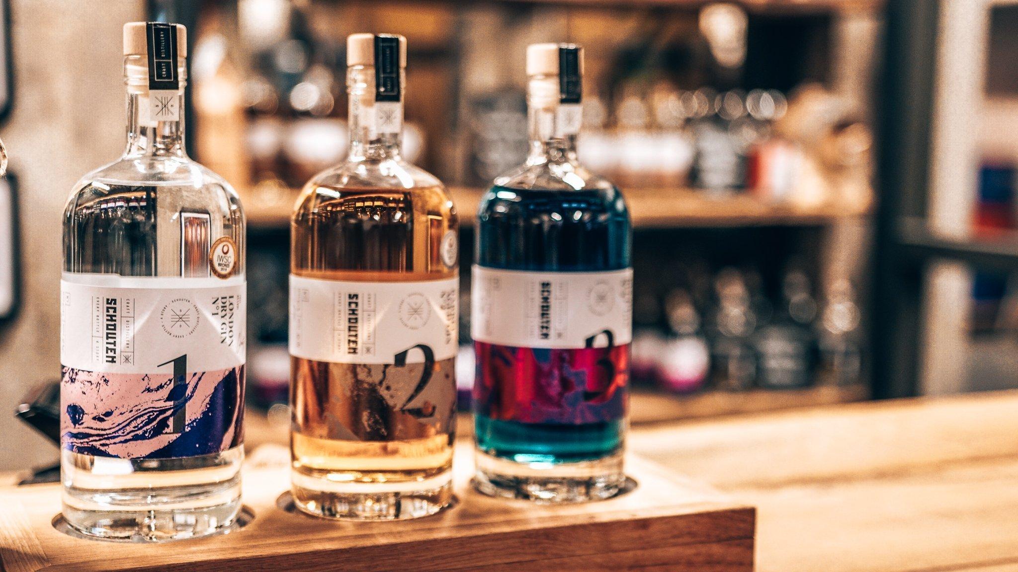 Drie gins van Schouten Distillery, Alles over gin.