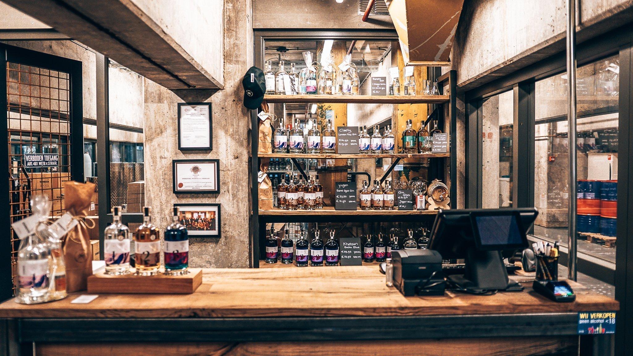 Verkooppunt Schouten Distillery, Alles over gin.