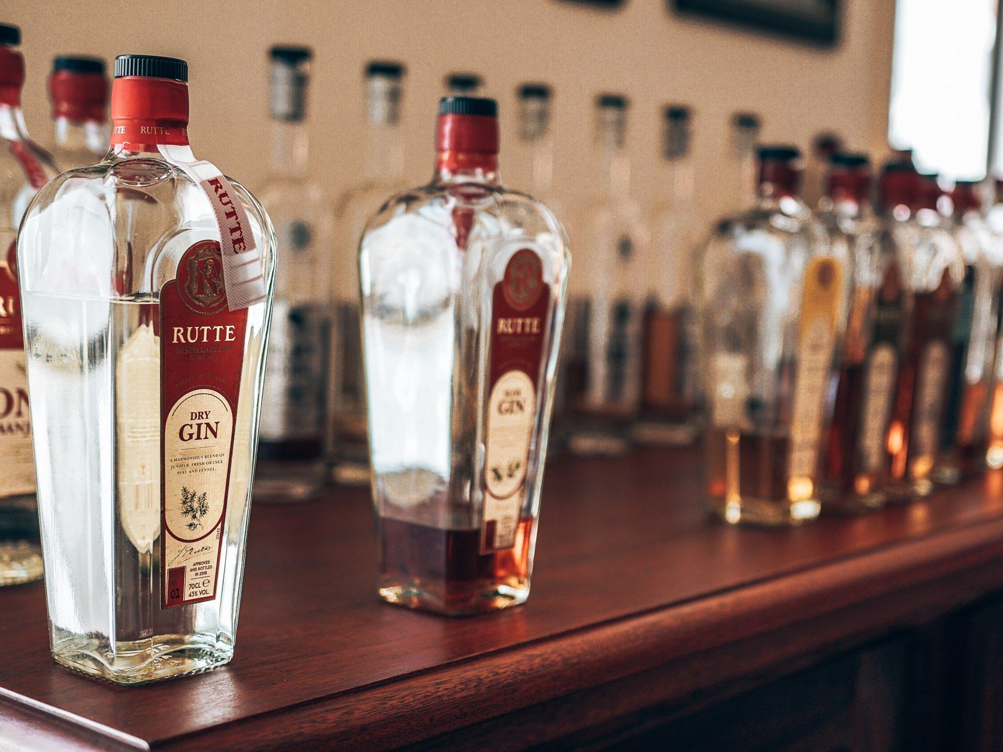Distilleerderij Rutte, Dordrecht, Rutte gins, Alles over gin.