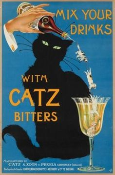 CATZ Dry Gin advertisement van vroeger, Alles over gin.