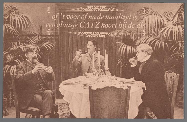 Catz elixer advertentie van vroeger, Catz historie, Alles over gin.