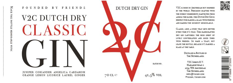 Nieuw label V2C Gin, Alles over gin.