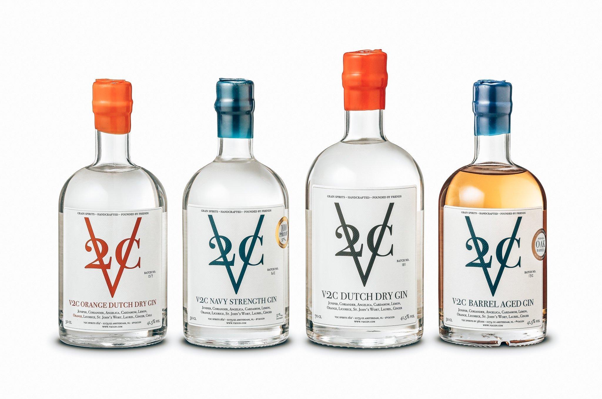V2C Gin range, Alles over gin.