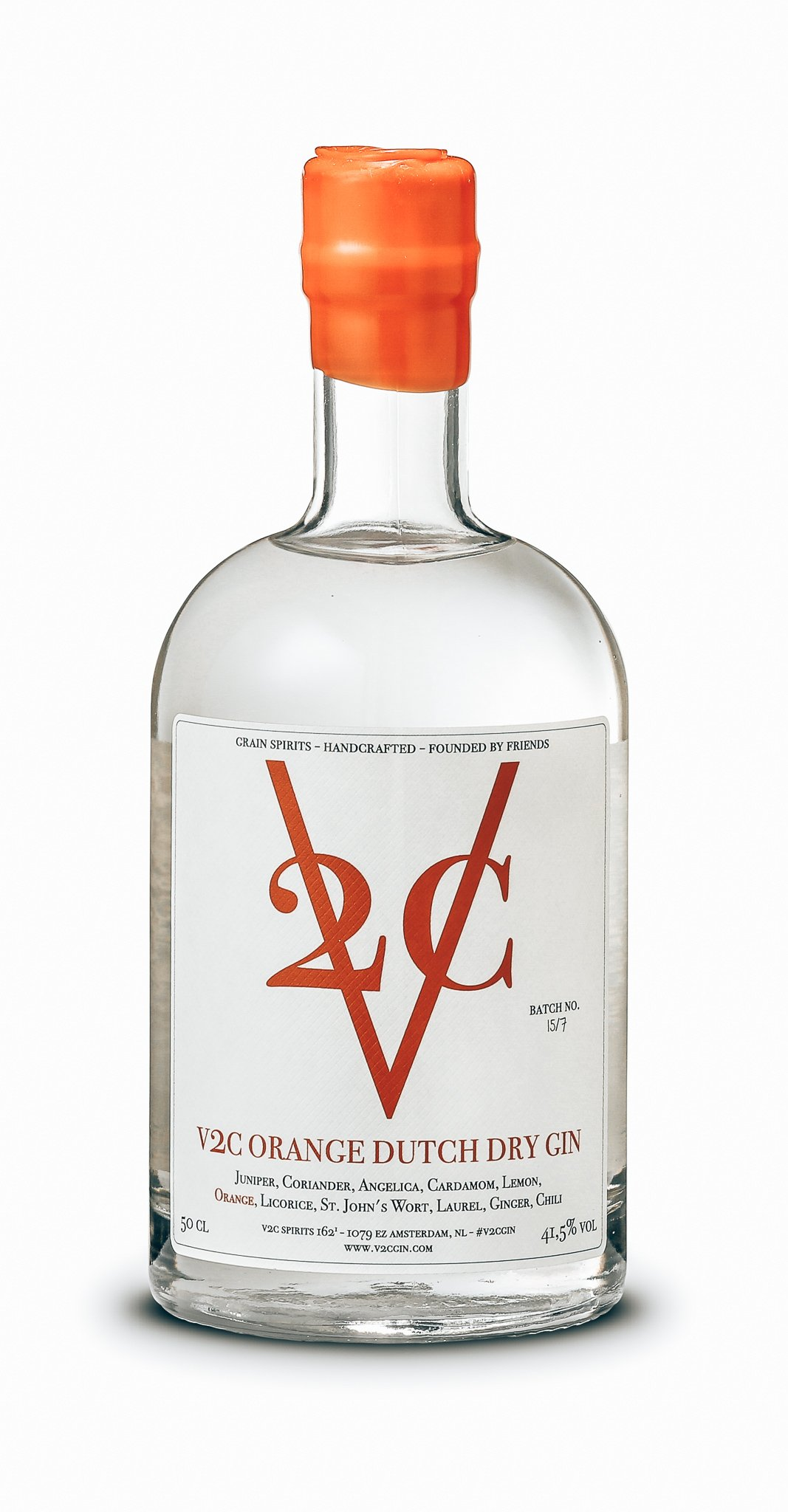 V2C Orange Dutch Dry Gin, Amsterdam, Alles over gin.