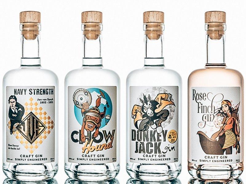 Gin range Driftwood Distillery, Alles over gin.