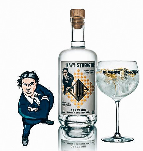JVS Navy Craft Gin, Driftwood Distillery, Alles over gin.