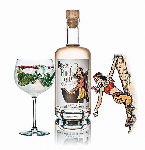 Rose Finch Gin, Driftwood Distillery, Alles over gin.
