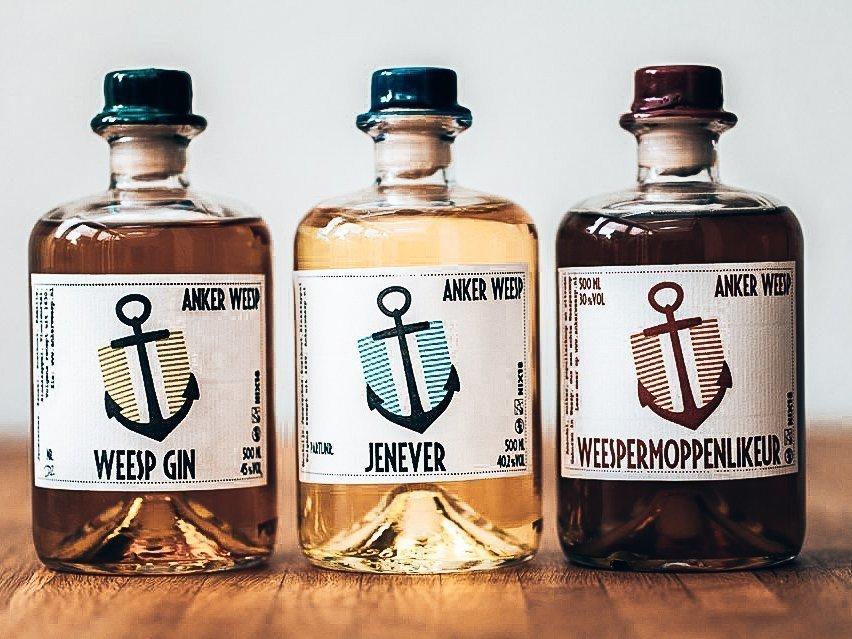 Distillaten van Stokerij Anker Weesp, Alles over gin.