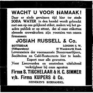 Geschiedenis Russell & Co, namaak drankjes, Alles over gin.