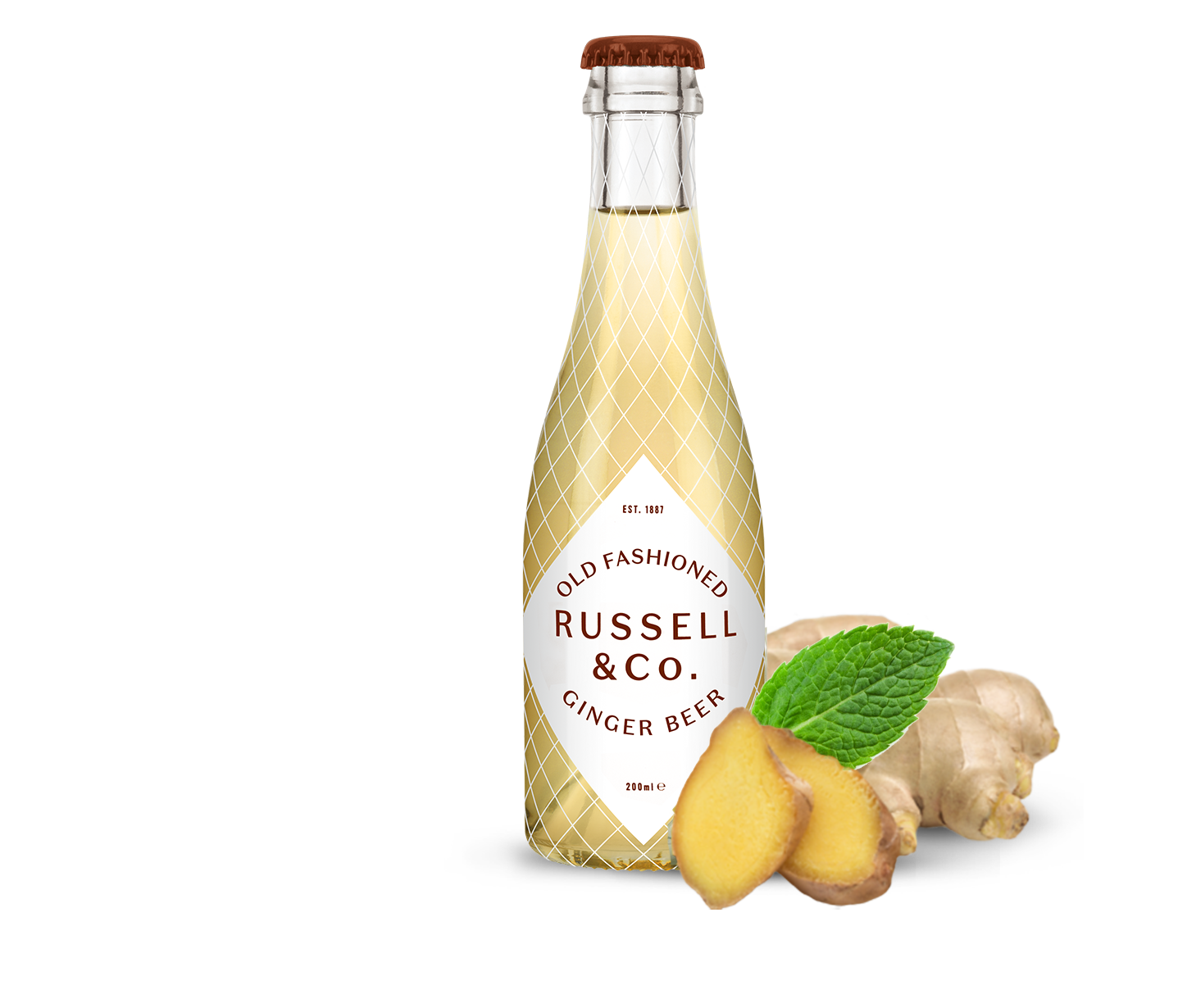 Russell & Co Old Fashioned Ginger Beer, Alles over gin.