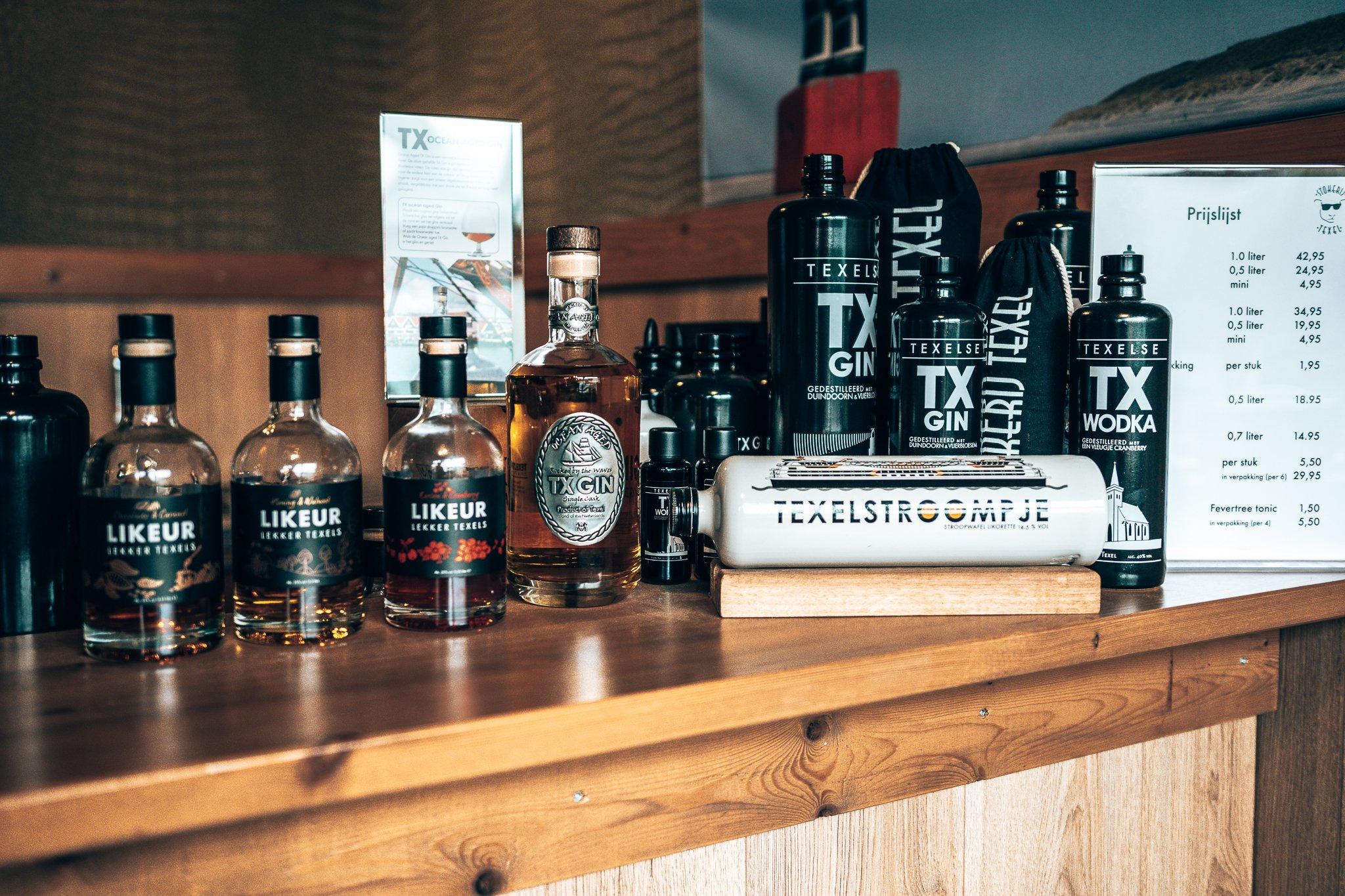 Dranken range van Stokerij Texel, Alles over gin.