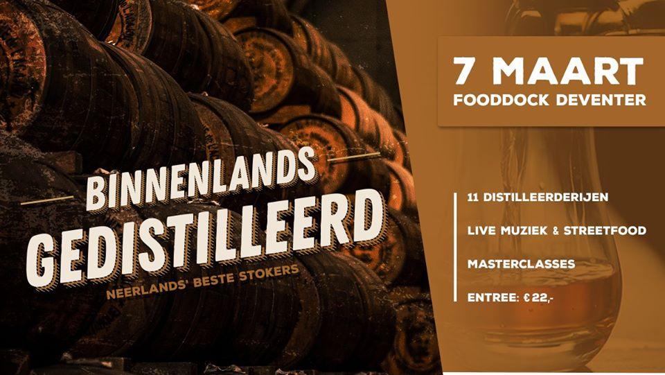 Binnenlands Gedistilleerd, gin event in Fooddock Deventer, Alles over gin.