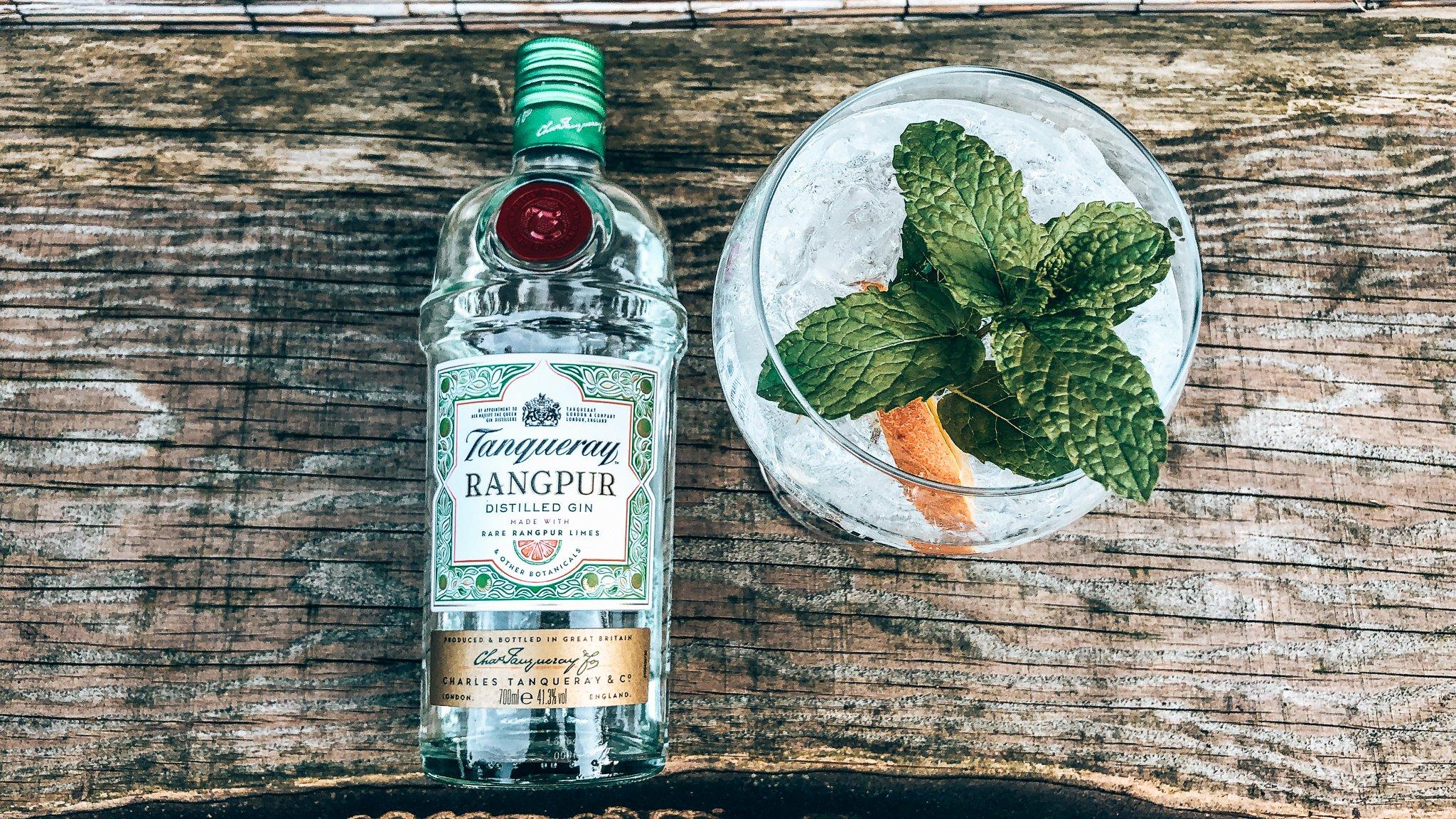 Gin-tonic Orangpur, Tanqueray Rangpur, recept, Alles over gin.