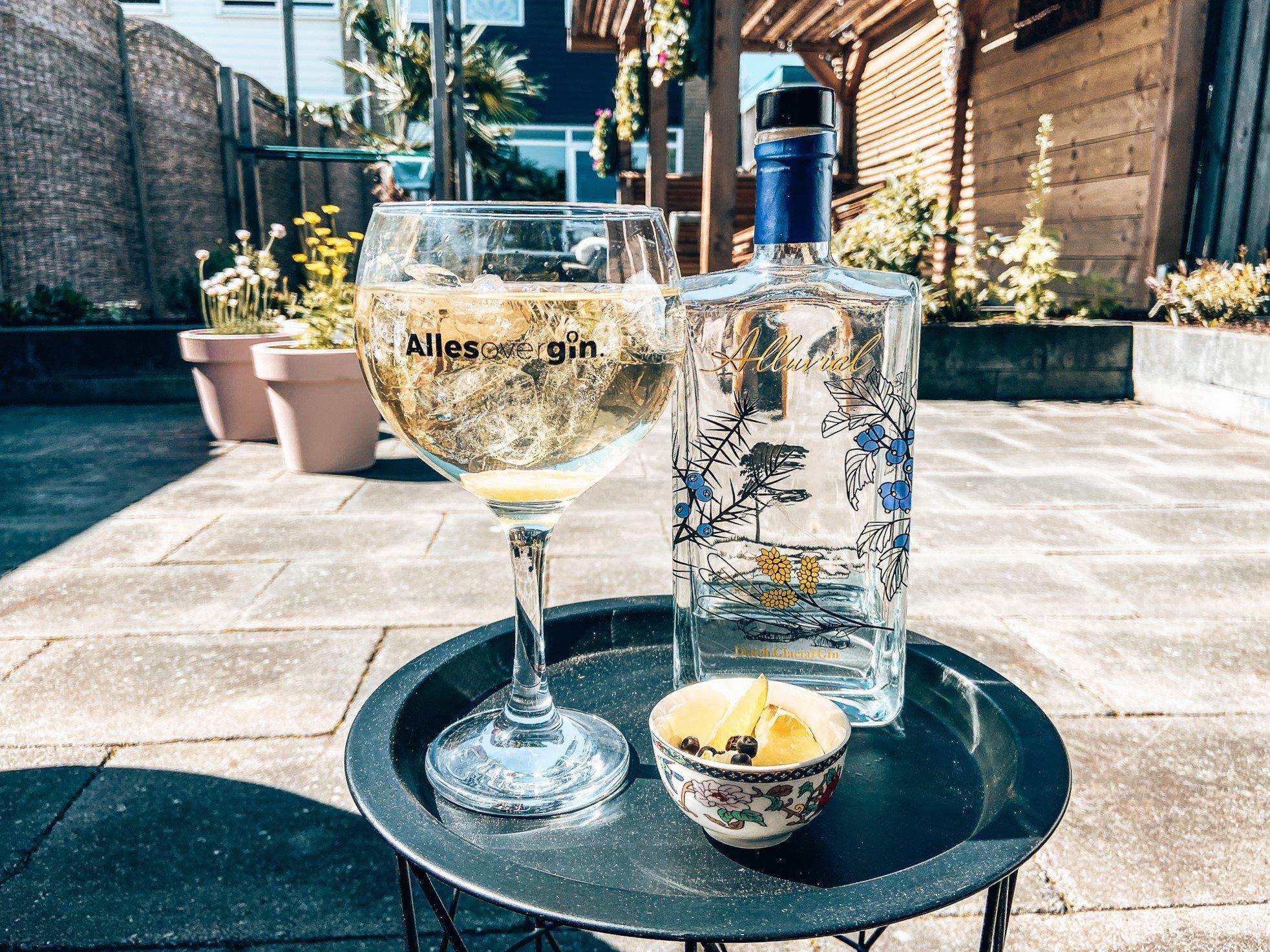Perfect Alluvial serve, Alluvial Gin, Drumlin Distillery, Havelte, Alles over gin.