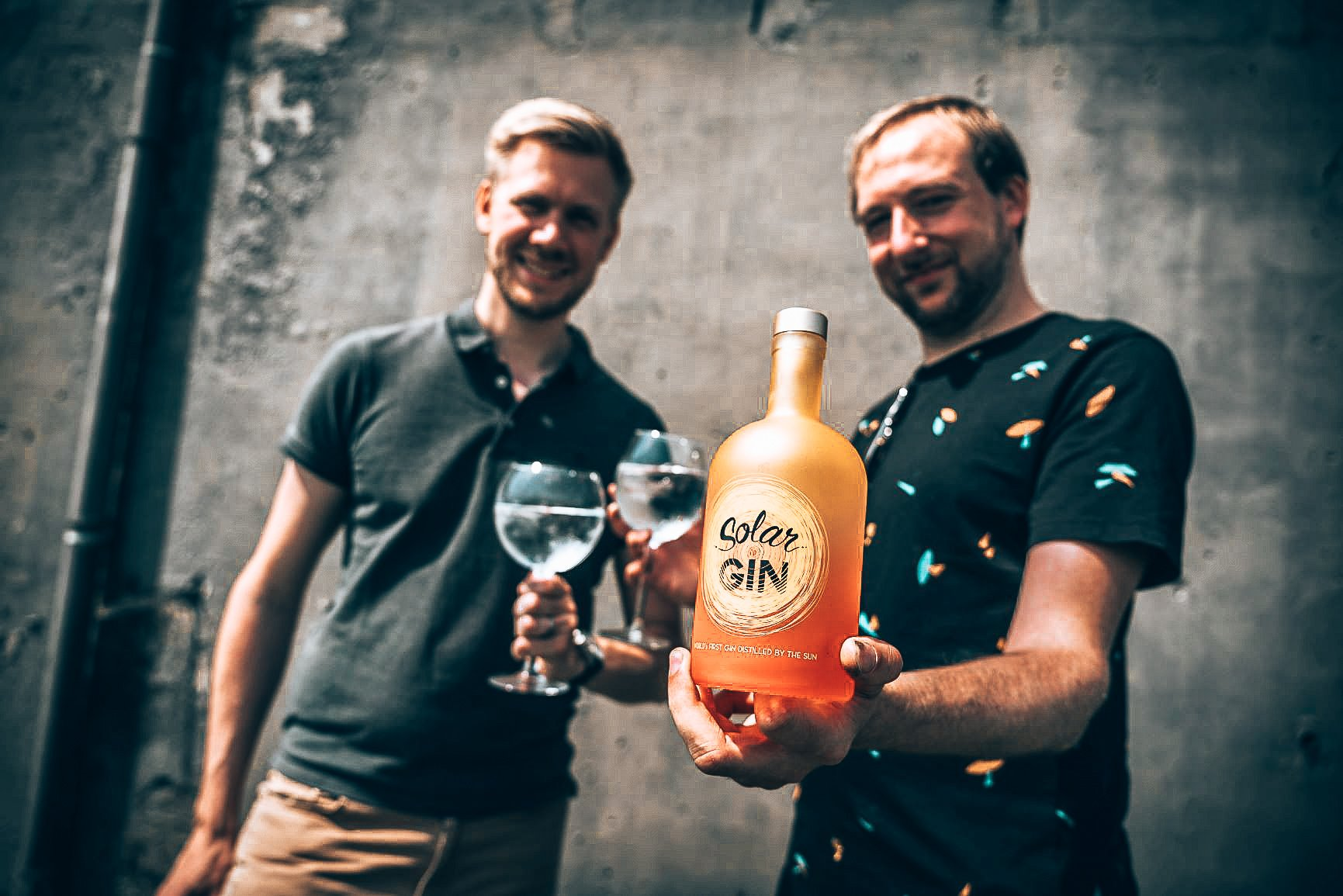 Founder Kevin van der Merlen met Solar Gin, Alles over gin.