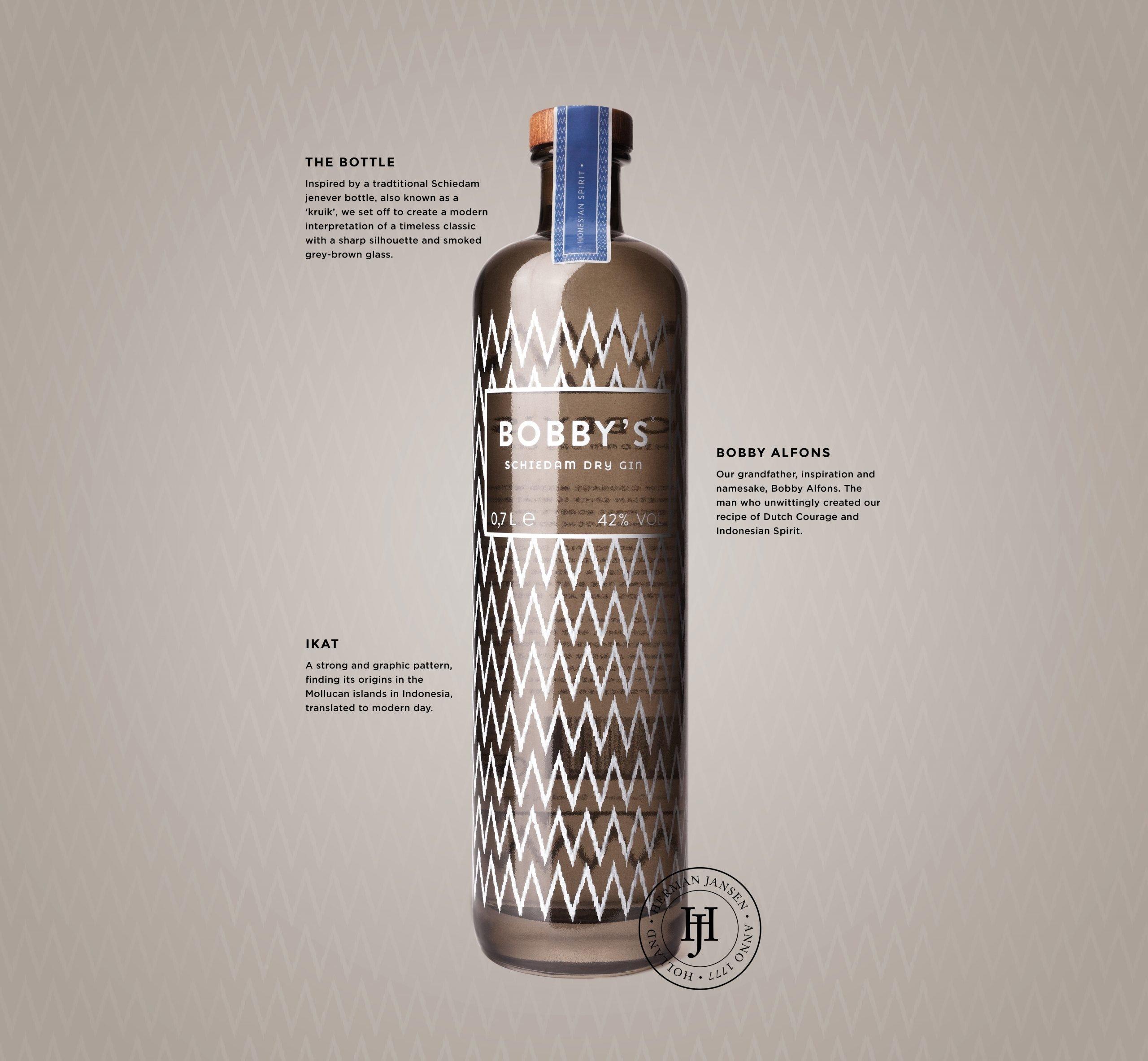 Het verhaal van de fles en naam, Bobby's Schiedam Dry Gin, Alles over gin.