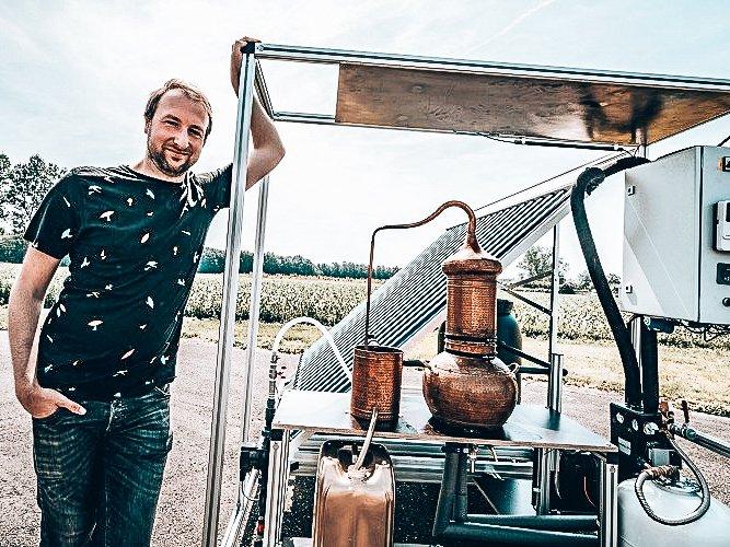 Solar Gin en founder Kevin van de Merlen, Alles over gin.