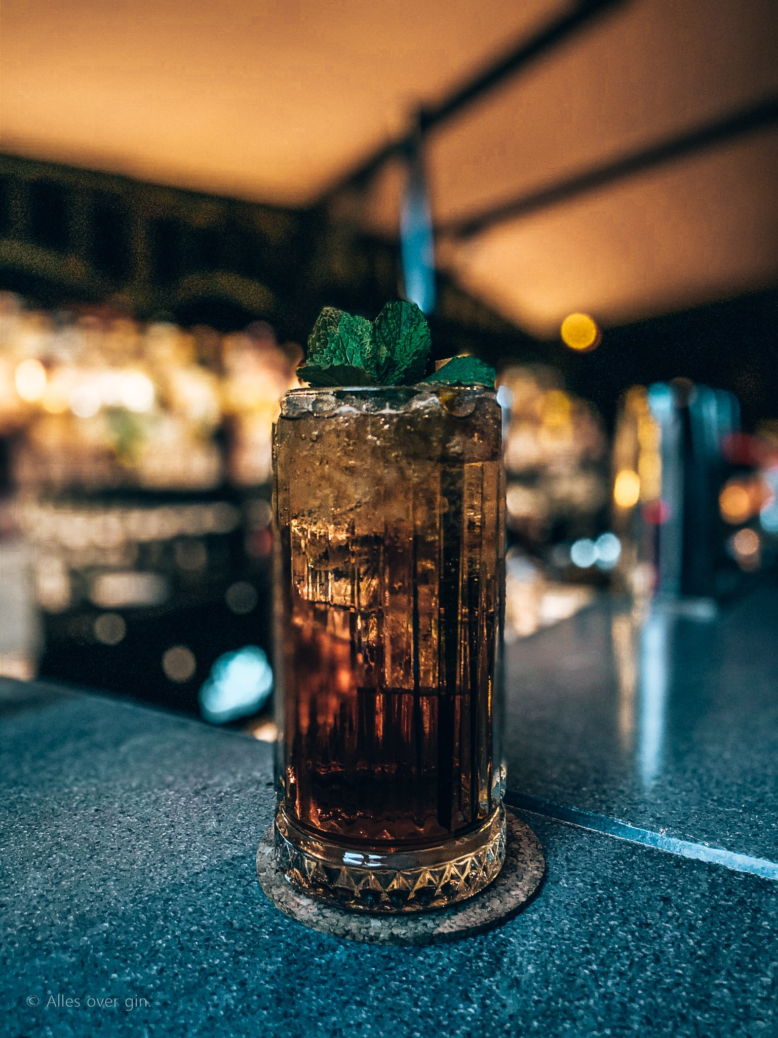 Cocktails drinken bij Bar Mokum, Amsterdam, Alles over gin.