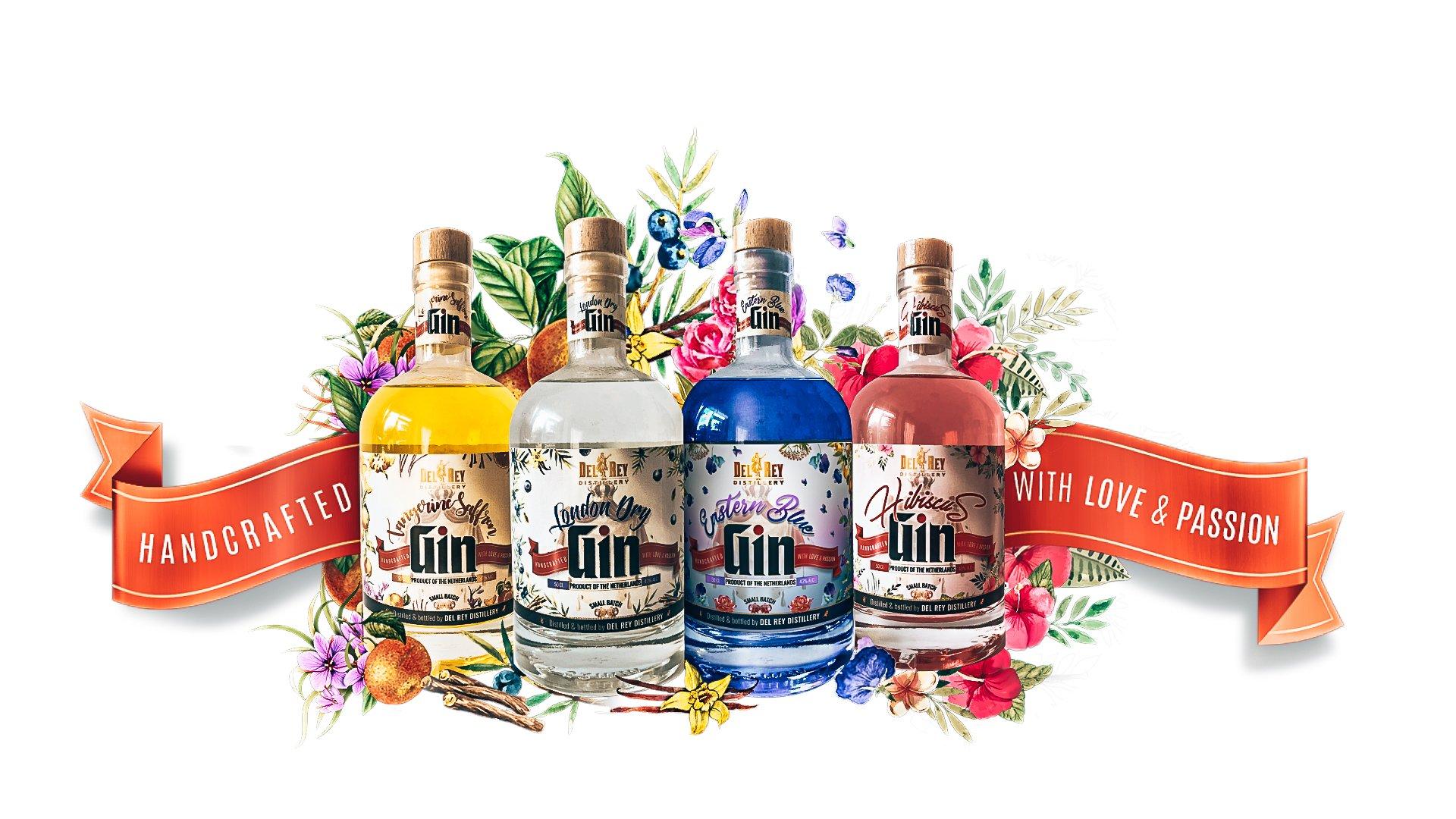 De gin range van DelRey Distillery, Alles over gin.