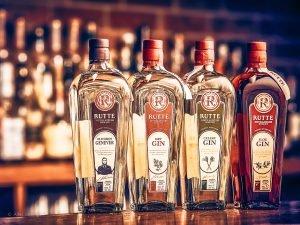 Rutte Gin productrange, Distilleerderij Rutte, Alles over gin.