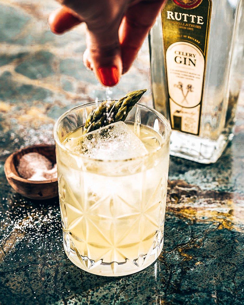 Rutte cocktails - Rutte Asparagus, Distilleerderij Rutte, Alles over gin.