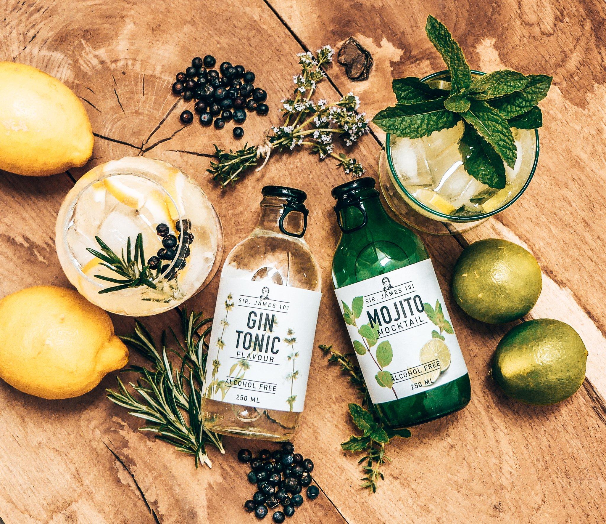 Sir. James 101 Gin Tonic en Sir. James 101 Mojito Mocktail, Alles over gin.