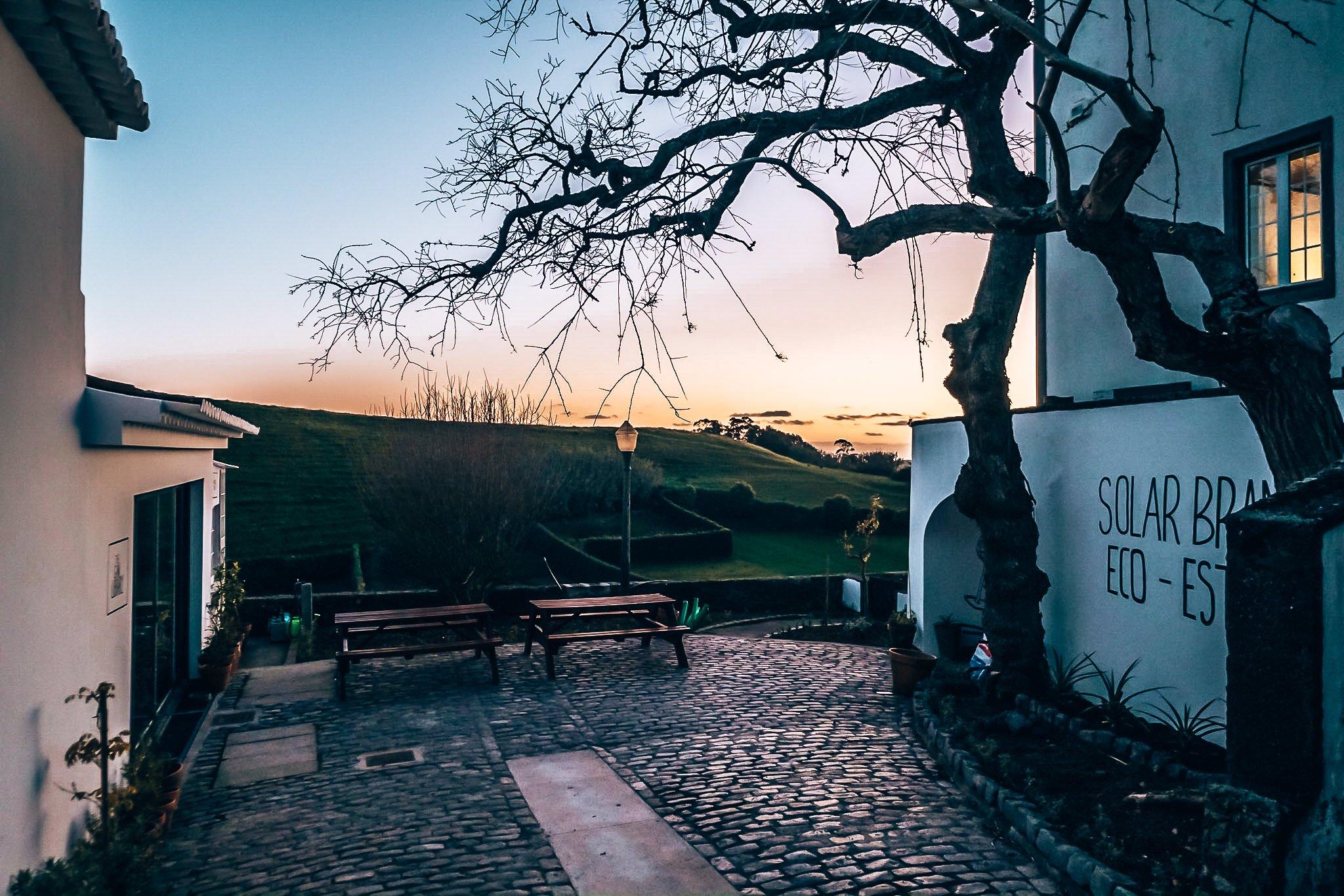 Het geweldige uitzicht bij Solar Branco Eco Estate, Azoren, Alles over gin.
