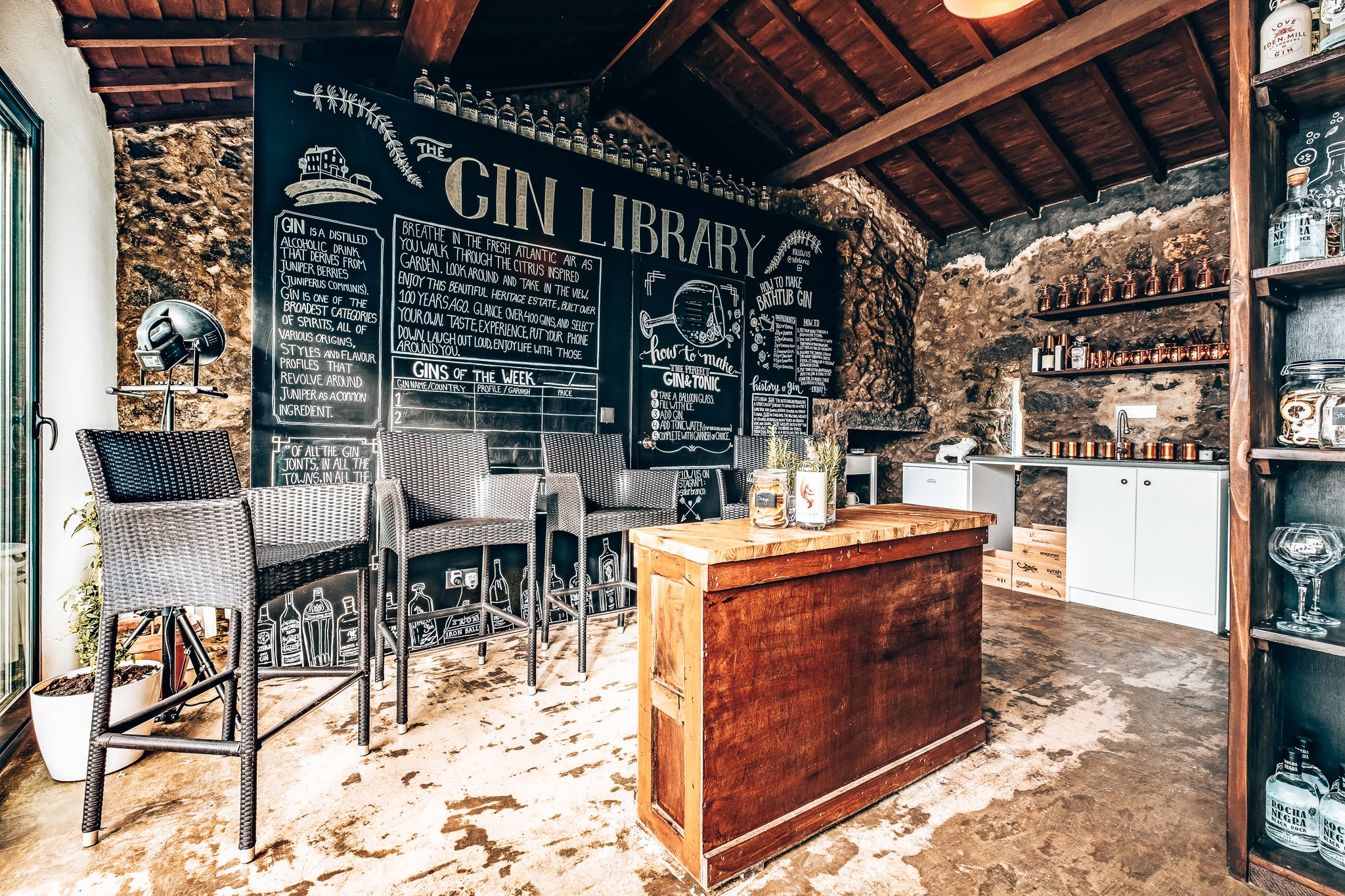 The Gin Library in de Azoren, Alles over gin.