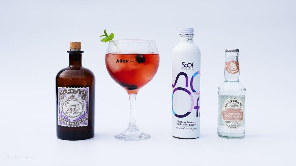 Monkey Berry, gin-tonic recept met Soof Drinks, Monkey 47 Gin, Alles over gin.