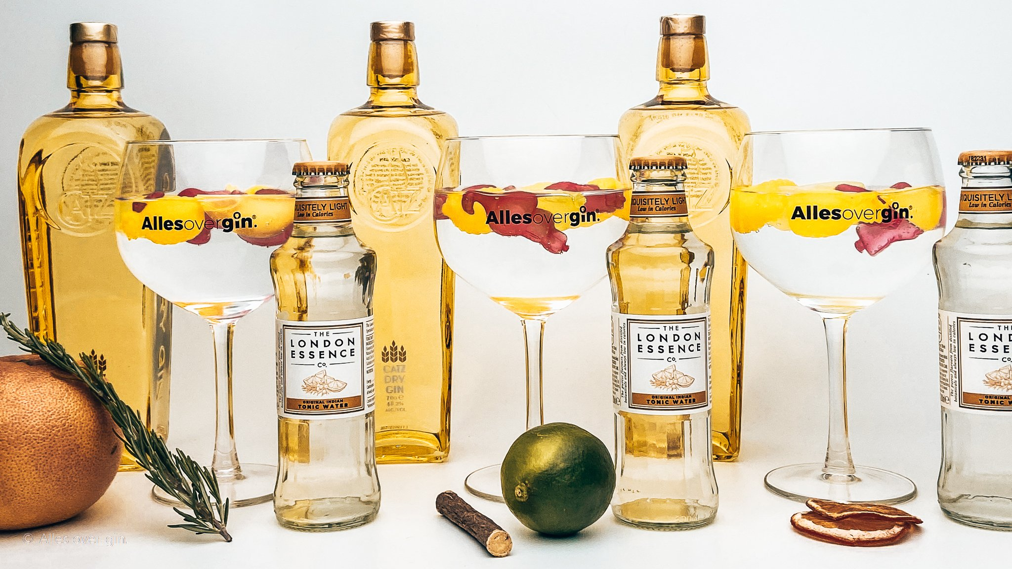 Gin-tonic recepten, classic serves met CATZ Dry Gin en London Essence mixers, Alles over gin.