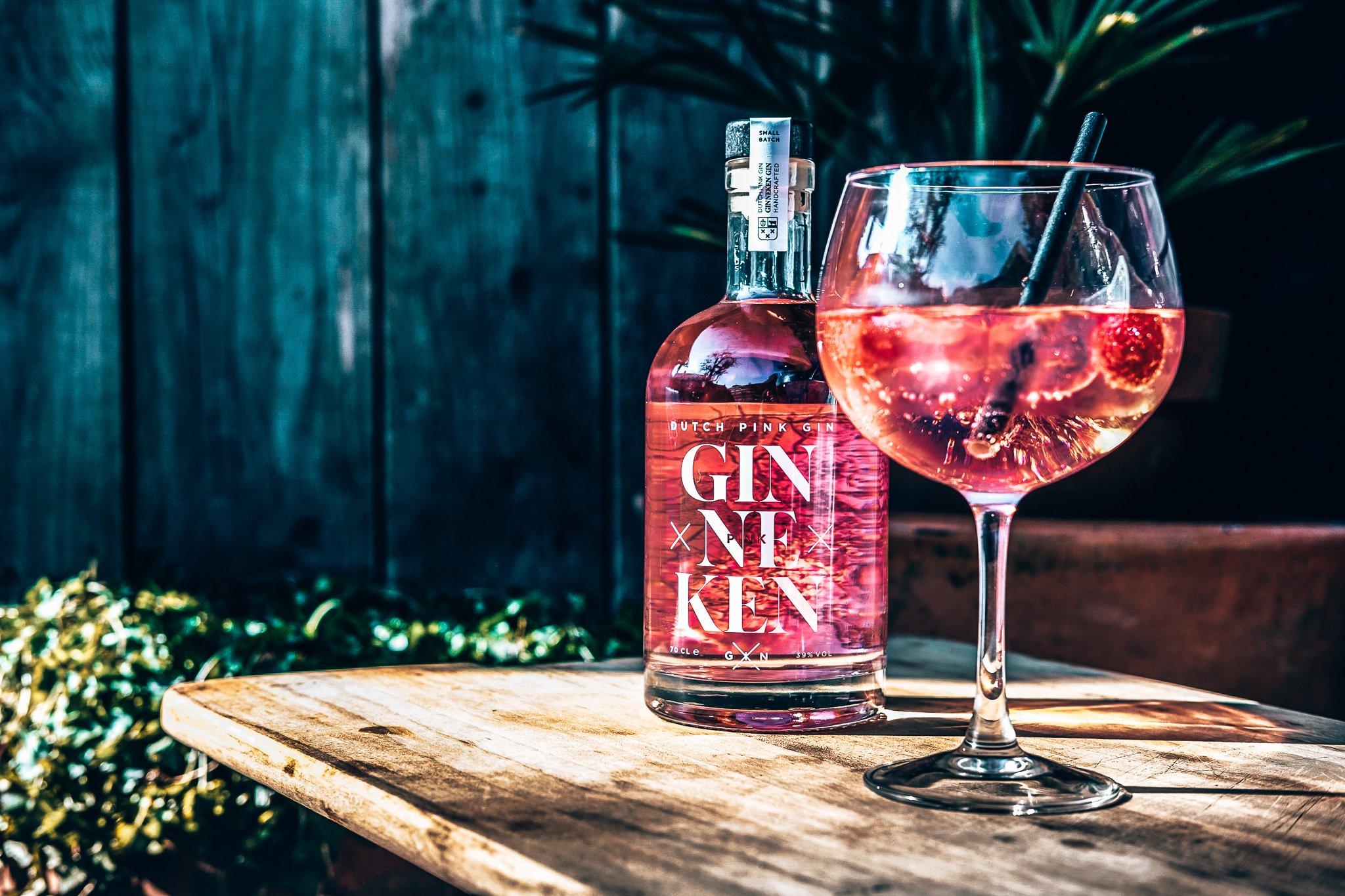 Ginneken Pink Gin, perfect serve, Alles over gin.
