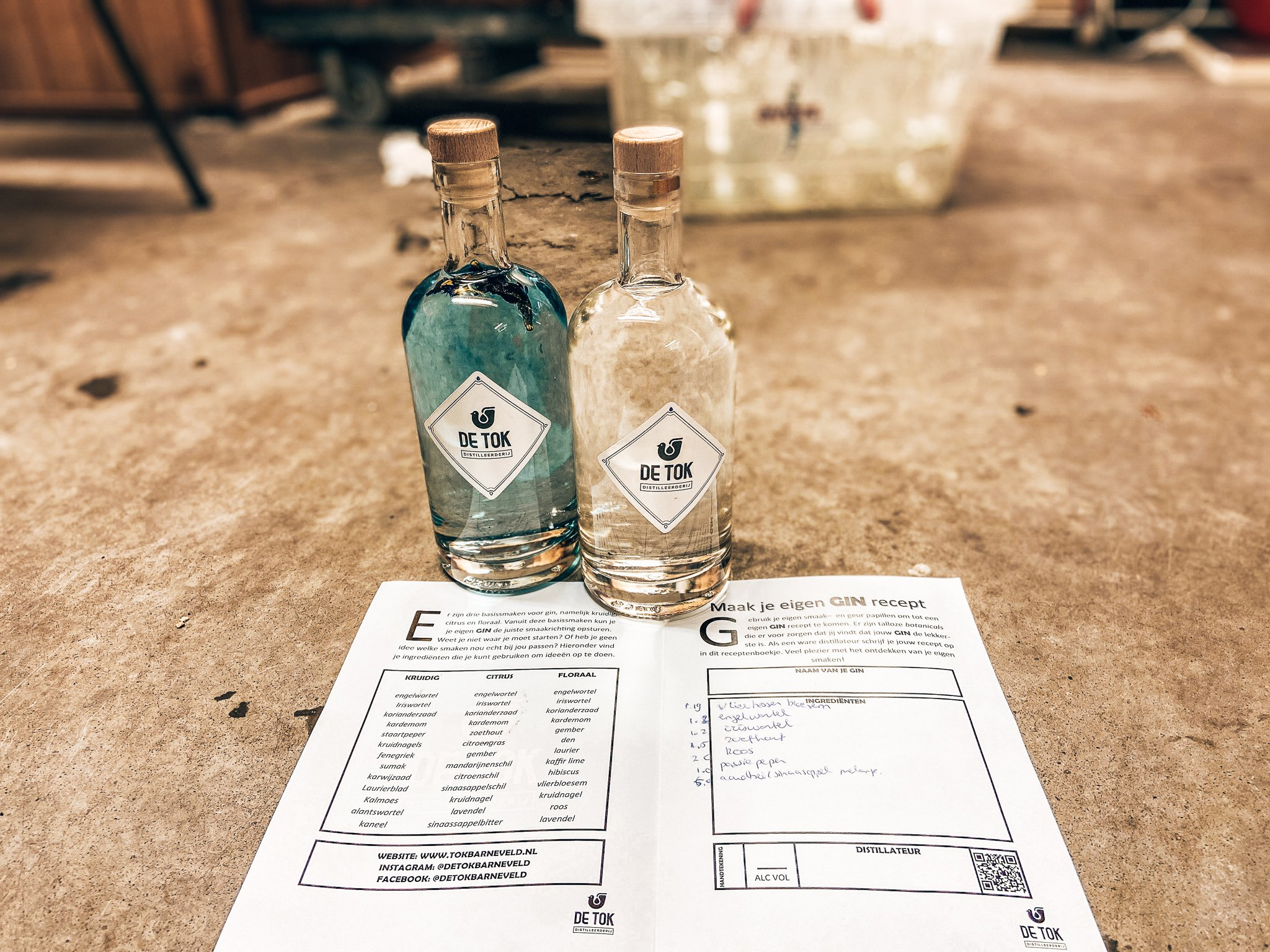 Resultaat gin workshop, De Tok Distilleerderij, Alles over gin.