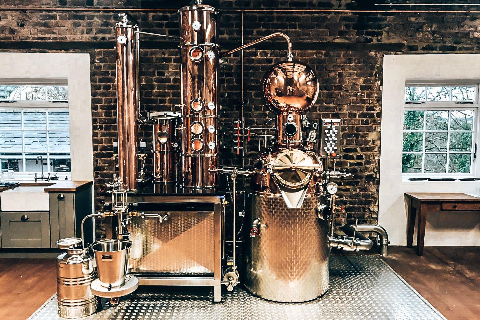 Distilleerketel Strawhills Estate, Jacquard Gin, Alles over gin.