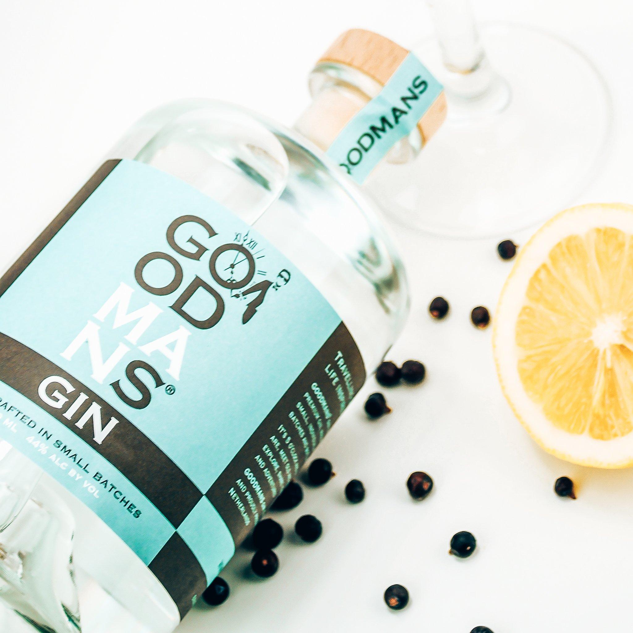 Goodmans Gin, fles en label, Alles over gin.