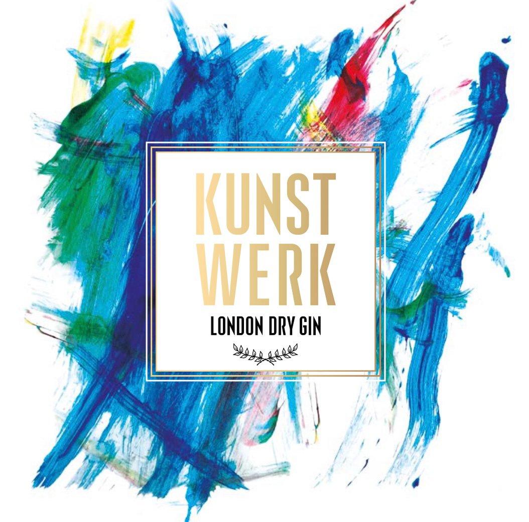 Logo Kunstwerkgin, Ontwikkeld door zoontje van Marcus Ritter, Alles over gin.