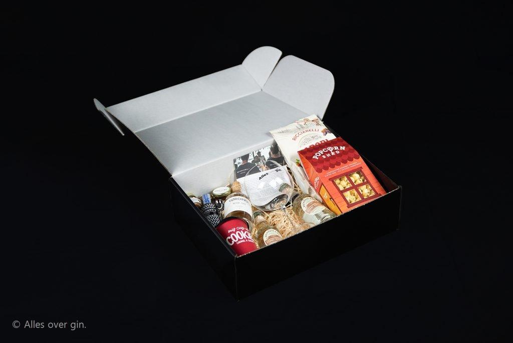 VerGINdingsbox special met snacks, JAMF Amsterdam, Alles over gin.