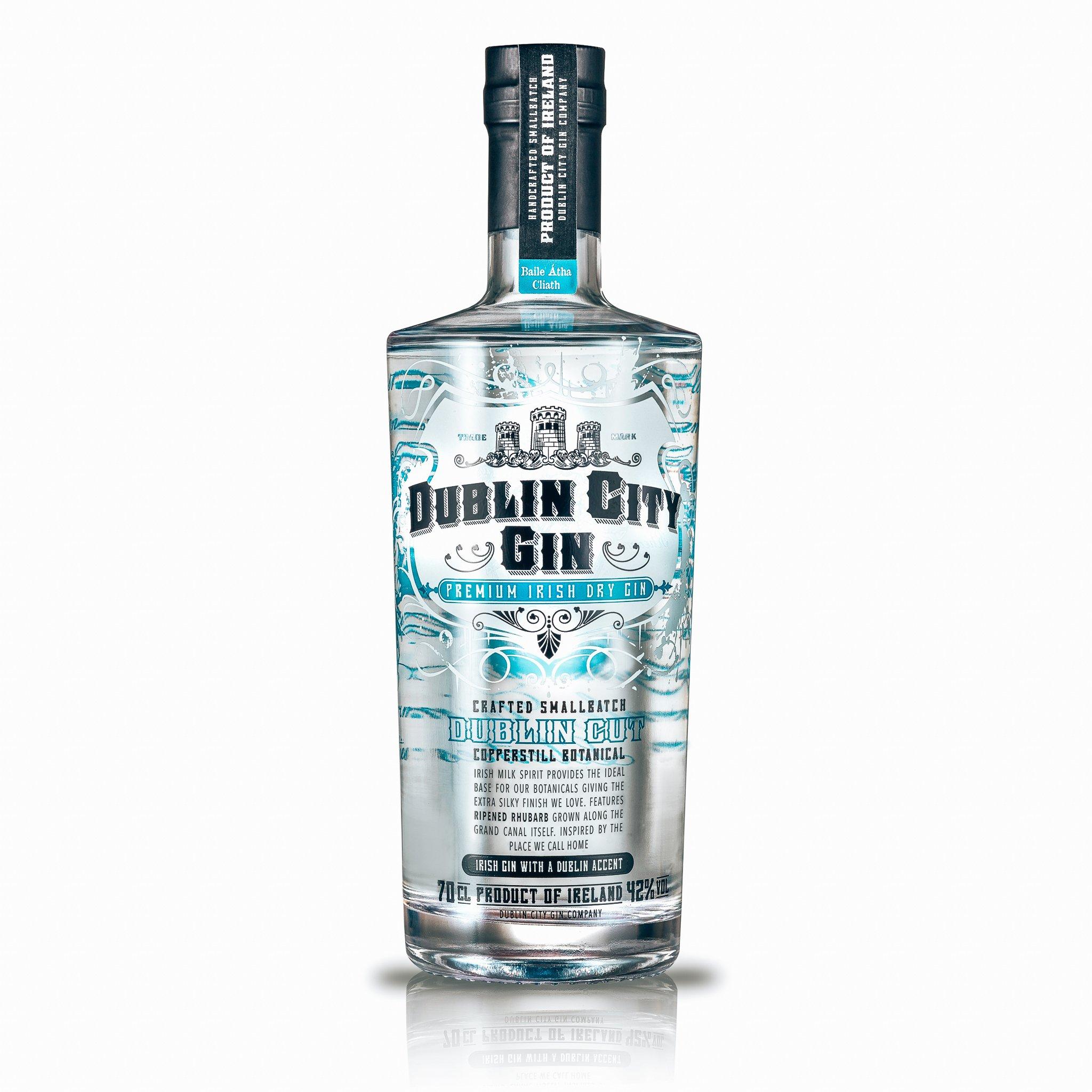 Dublin City Gin, voorkant fles, Alles over gin..jpg