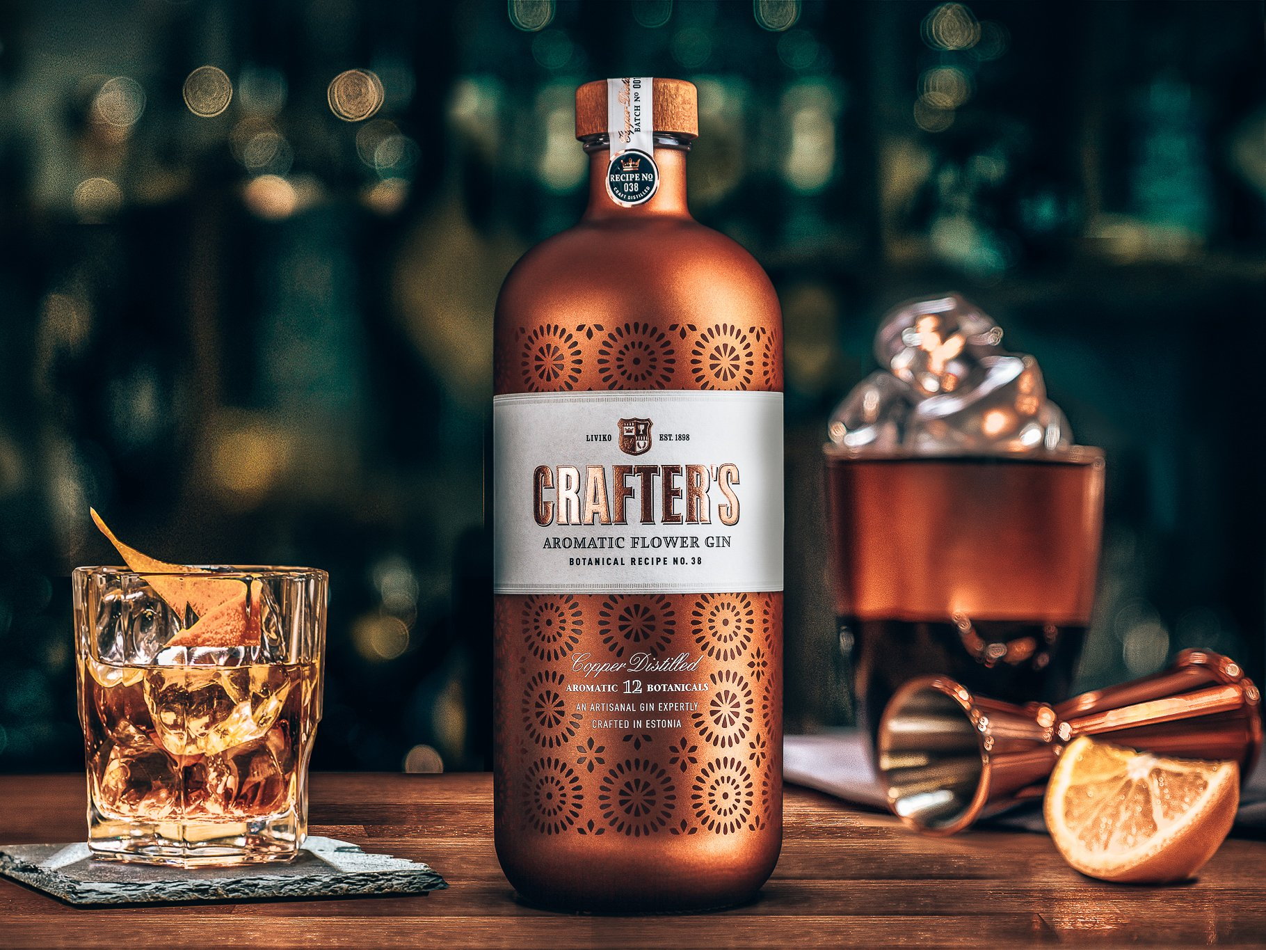 Crafter's Aromatic Flower Gin, gin story, uitgelicht, Alles over gin.