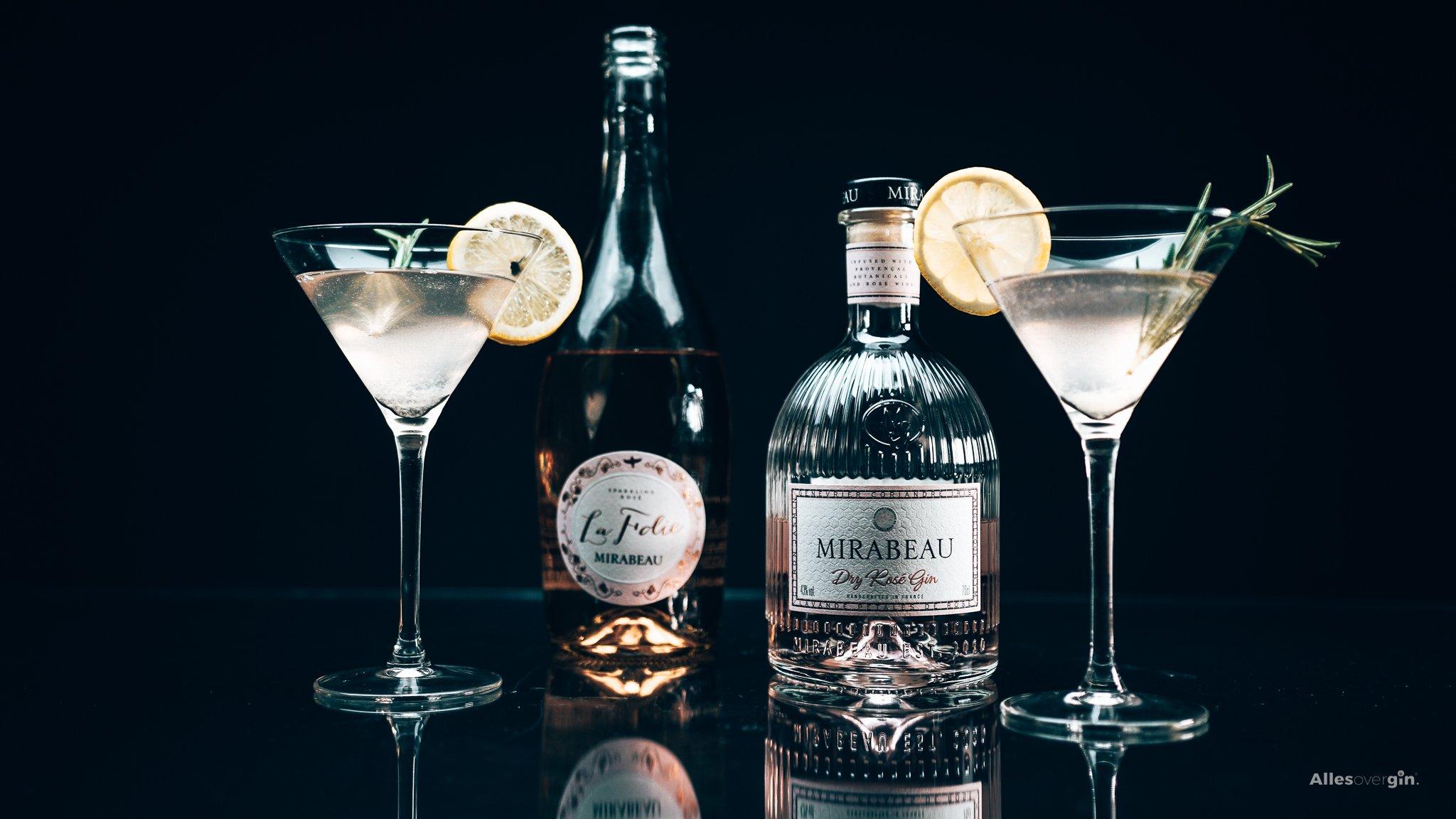 Gin cocktail recept, Mirabeau Dry Rosé Gin, Mirabeau's Gin Fizz, Alles over gin.
